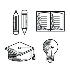education supplies drawing icons vector image