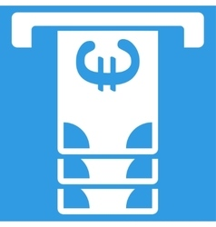 Euro atm withdraw icon vector