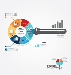 Infographic template with key business jigsaw vector