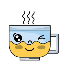 Kawaii cute funny coffee cup vector