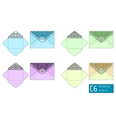 Lase envelope template vector