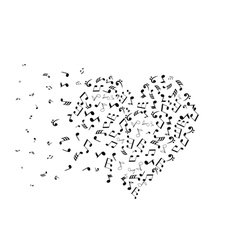 note heart w vector image
