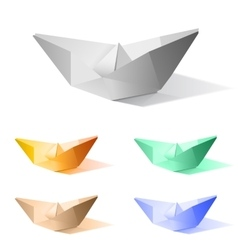 paper ship vector image