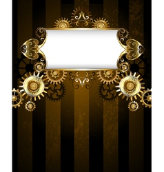 Patterned Banner with Gears vector image