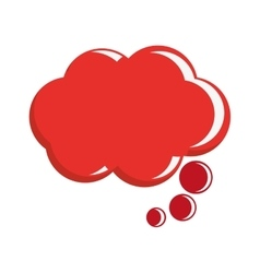 Red conversation bubble vector