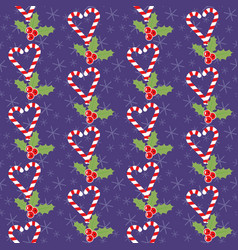 romantic christmas pattern vector image