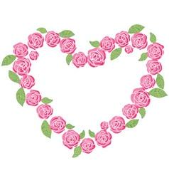 Roses love frame vector