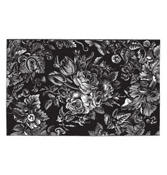 Rug is designed in a floral design vintage vector