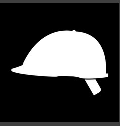 Safety helmet the white color icon vector