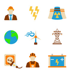 Set of engineering icon energy label for web on vector