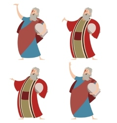 Set of Moses vector image