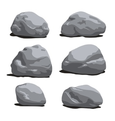Set of rocks and stones different shapes vector