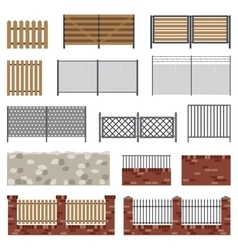 Simple flat fences vector