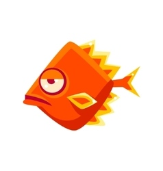 Snobbish orange diamon shaped fantastic aquarium vector