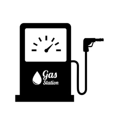 station gasoline pump oil design vector image