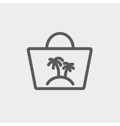 Summer bag thin line icon vector image