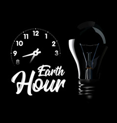 The earth hour is an international action calling vector