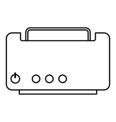 Toaster icon outline style vector image