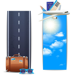 Travel banners vertical vector