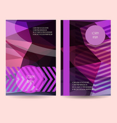Vertical banner template promotion vector