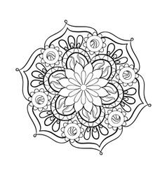 Zentangle stylized elegant black Mandala for vector image