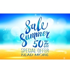 Summer sale marketing template with copy space vector