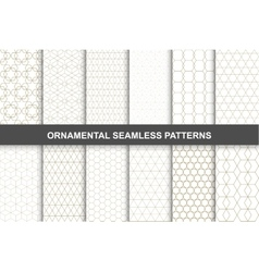 Ornamental patterns - seamless collection vector