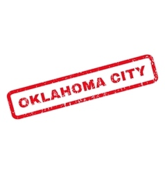 Oklahoma city rubber stamp vector