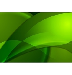 Bright green smooth waves background vector