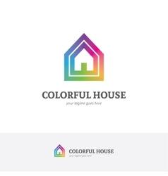 House logo in a rainbow colors vector