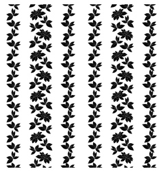 Seamless background plants silhouettes vector image