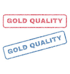 gold quality textile stamps vector image
