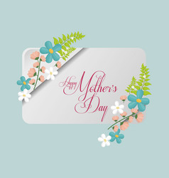 Happy mothers day card greeting delicate vector
