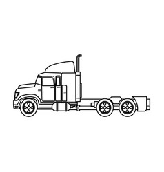 Truck cabin transport industry trailer vehicle vector