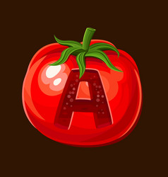 Tomato icon for slot game vector