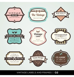 Vintage labels and frames vector image