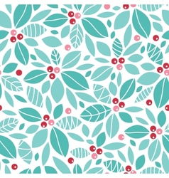 Christmas holly berries seamless pattern vector image