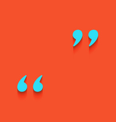 Quote sign whitish icon on vector