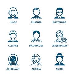 profession icons - set iii vector image