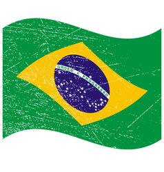 Brazil flag in grunge style bandeira do brasil vector