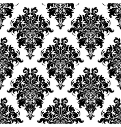 Intricate foliate arabesque seamless pattern vector