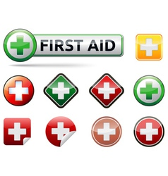 First aid icons vector image