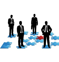 business puzzle vector image