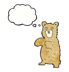 Cartoon bear with thought bubble vector