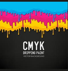 Dripping paint background vector