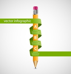 Education infographics design template pencil vector