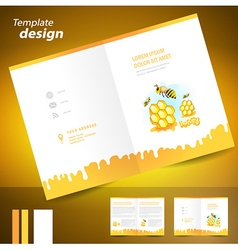Booklet catalog brochure folder honey mead bee vector