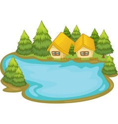 Lake house vector