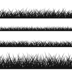 Grass silhouette seamless pattern vector