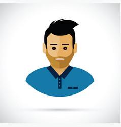 a man profile cartoon vector image